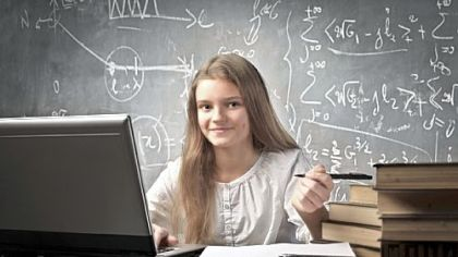 Female math student